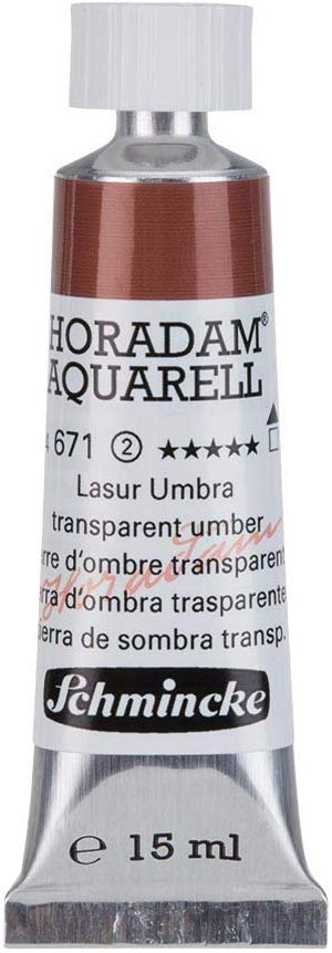 Schmincke Horadam Artists Watercolours - Transparent Umber - 15Ml Tube - (Series 2) (671)