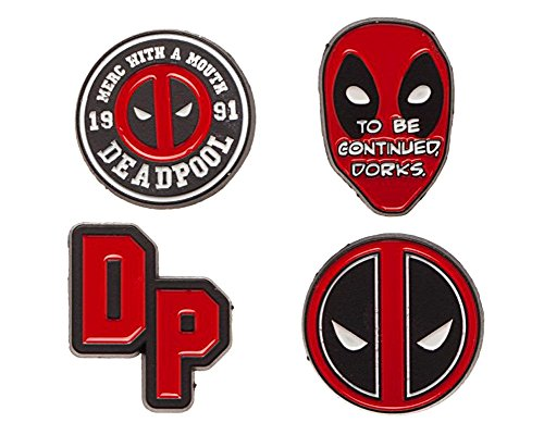 Bioworld Deadpool - 4-Piece Enamel Pin Set
