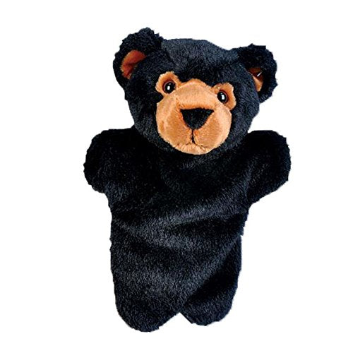 Adventure Planet Black Bear Super-Soft 10  Plush Hand Puppet / Affordable Unique Gift And Souvenir For Your Little One!