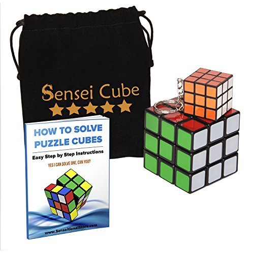 Mega Sale Sensei Cube - Best Selling Black Stickerless Speed Cube - With Pouch &Amp; Puzzle Cubes Solution Guide
