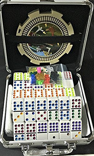 Mexican Train &Amp; Chicken Domino Set, Professional Set Of 91, Double Of 12