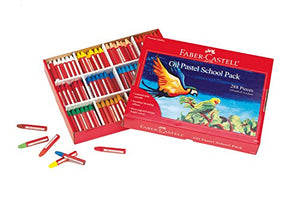 Faber-Castell - Oil Pastels School Pack - Premium Art Supplies For Kids (24 Each Of 12 Colors) (288 Count)