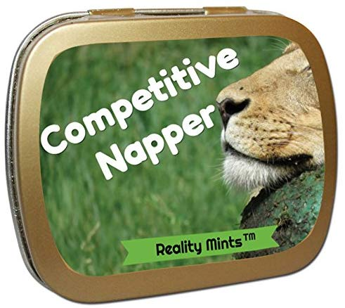 Gears Out Competitive Napper Mints Weird Ideas For Friends Funny Easter Basket Silly Stocking Stuffers Gags For Teen Boys Girls Peppermint Breath Mints Cute Lion Naptime Kids