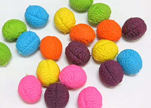 Funex Brain Shaped Erasers Lot Of 20