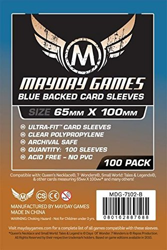Blue Back, 7 Wonders Card Sleeves (65X100Mm) - 100 Standard Thickness