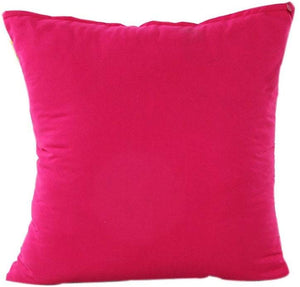 Pillow Case,Bokeley Cotton Linen Square Solid Decorative Throw Pillow Case Sofa Waist Bed Home Decor Cushion Cover (Hot Pink)
