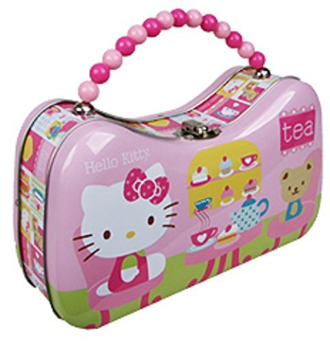 Hello Kitty Tea Time Tin Box Purse