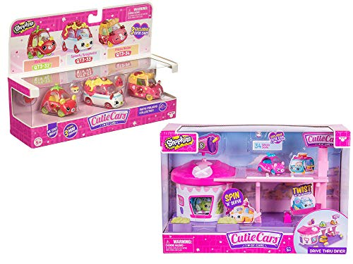 Shopkin S3 - Moto Italiano Assorted With Cutie Cars Drive Thru Diner Playset