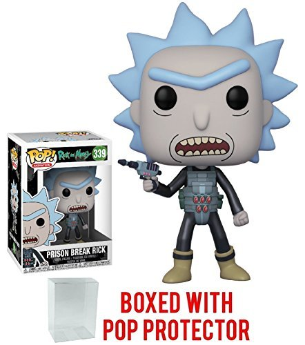Rick And Morty Funko Pop! Animation Prison Break Rick #339 Vinyl Figure (Bundled With Pop Box Protector Case)