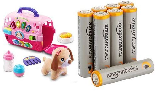 Vtech Care For Me Learning Carrier Toy With Amazon Basics Aaa Batteries Bundle