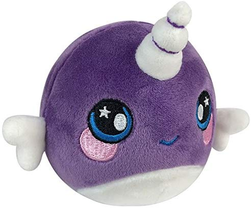 Squeezamals 3.5-Inch Plush Figure (Nellie Narwhal)