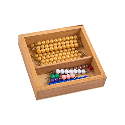 Montessori Math Materials Multiplication Snake Game With Box For Early Preschool Learning Toy
