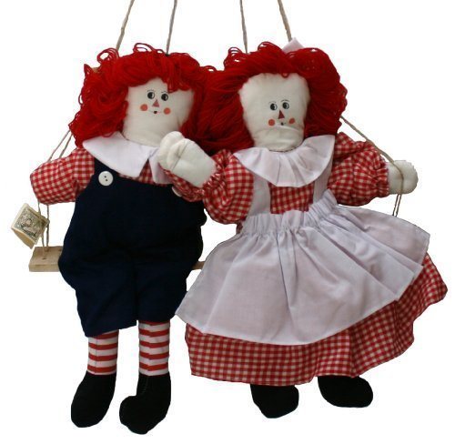 Raggedy Ann And Andy Dolls Lookalikes Plush Rag Doll Pair - Cloth Doll 15 Inches Boy And Girl