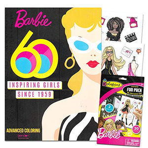Bendon Publishing Barbie Coloring Book For Adults Relaxation Set ~ Advanced  Barbie Coloring Book Set Featuring Barbie\'S Iconic Looks Through The Years  ...