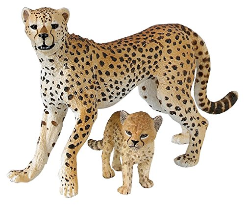 Papo Wild Animal Kingdom Figure, Cheetah With Cub