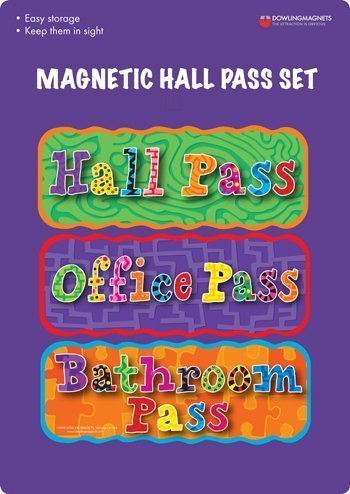 Dowling Magnets Magnetic Hall Pass Set 3 Pcs