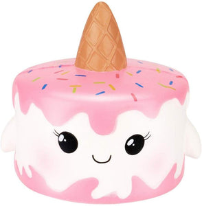 Wotryit Jumbo Kawaii Cartoon Unicorn Cake Squishy Slow Rising Cream Scented Stress Reliever Toy (A)