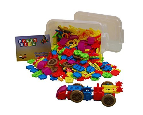 Bizzy Bitz Building Toy Bucket
