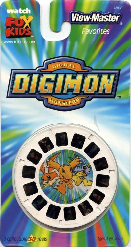 Viewmaster - Digimon - 3 Reels On Card - New