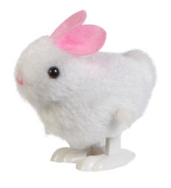 Wind Up Hopping Plush Bunny