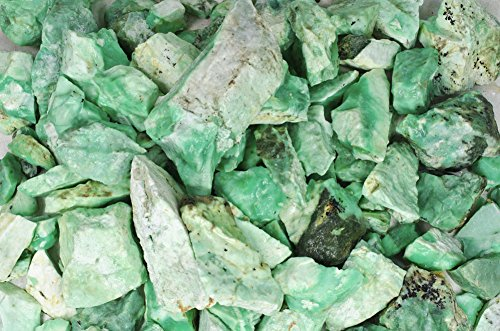 Fantasia Materials: 5 Lbs Premium Chrysoprase Rough From Poland - (Select 1 To 18 Lbs) - Raw Natural Crystals For Cabbing, Cutting, Lapidary, Tumbling, Polishing, Wire Wrapping, Wicca & Reiki Healing