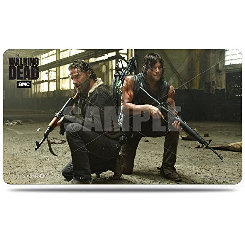 Ultra Pro The Walking Dead Rick &Amp; Daryl Playmat With Storage Tube