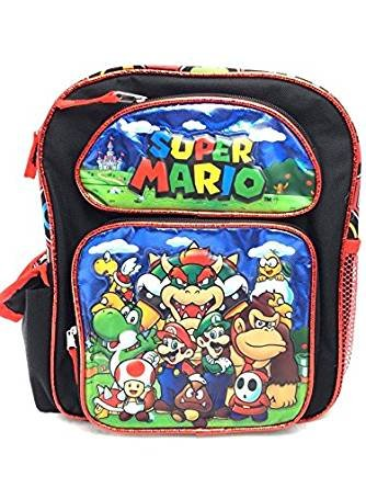 New 2017 Super Mario 3D Brother Team 12  Small Toddler Backpack Kid Boys School