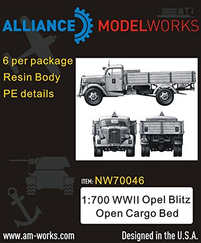 Alliance Model Works 1:700 Wwii German Opel Blitz Open Cargo Bed (6Pcs) #Nw70046