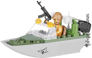 Cobi Small Army Shark Patrol Boat