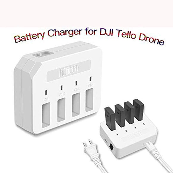 Rdtech Tello 4-In-1 Charger Hub, Rapid Parallel Battery Charging Hub Charging Accessories(White)