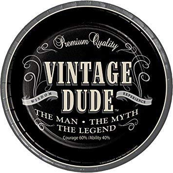 Vintage Dude The Man The Myth The Legend Party Pack 9