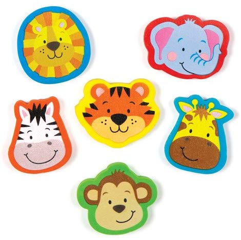 Baker Ross Jungle Chums Erasers Stationery Set For Children To Play With Perfect Party Bag Stuffer For Boys And Girls