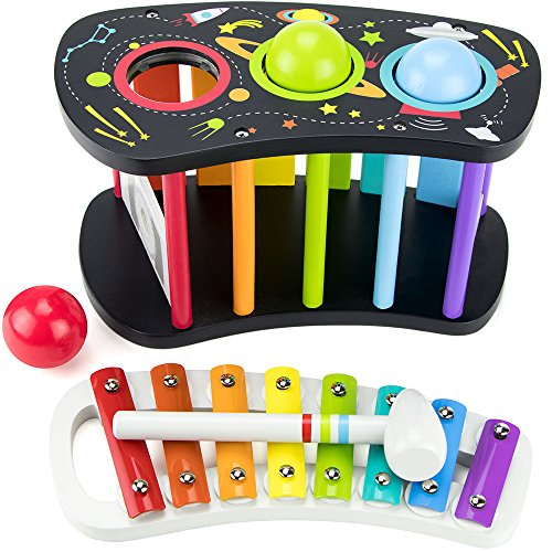 Space Adventure Pound &Amp; Tap Bench With Slide Out Xylophone By Imagination Generation