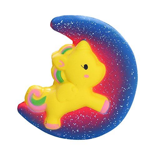 Aolige Squishies Slow Rising Jumbo Kawaii Cute Starry Galaxy Moon Horse Creamy Scent For Kids Party Toys Stress Reliever Toy