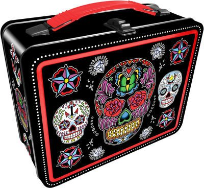 Aquarius Sugar Skulls Black Gen 2 Tin Storage Fun Box