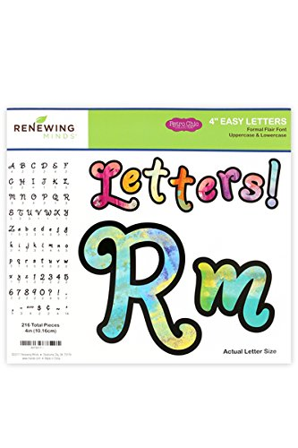 Renewing Minds Retro Chic Formal Flair Easy Letters, 4 Inches, Multi-Colored 216 Pieces