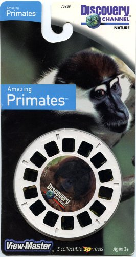 Discovery Channel - Amazing Primates - Classic Viewmaster - 3 Reels On Card - New