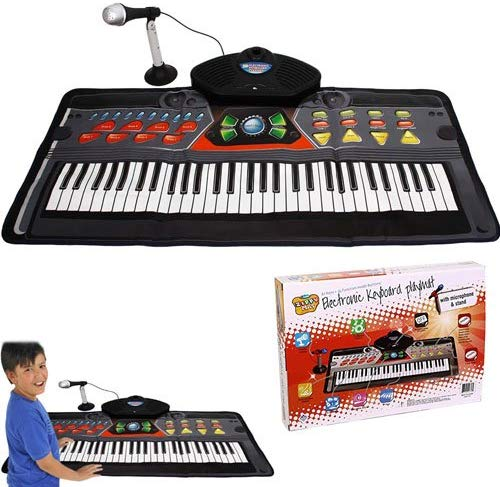 Kids Piano Electronic Keyboard Playmat - 61 Keys + 36 Function Modes Electronic Keyboard Playmat With Mike And Stand