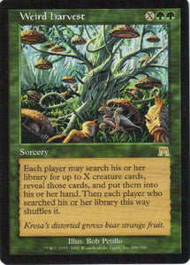 Weird Harvest (Magic The Gathering : Onslaught #299 Rare)