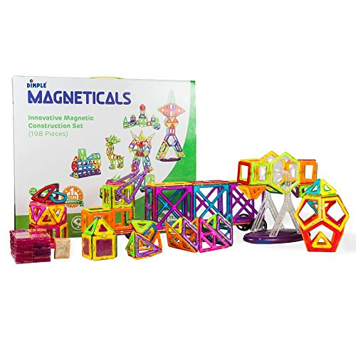 Magneticals Magnet Toys Tile Set (198-Piece Set) Stack, Create And Learn Promote Early Learning, Creativity, Imagination Magnetic Building Toys For Kids, Top-Rated Perfect Toy For Boys And Girls