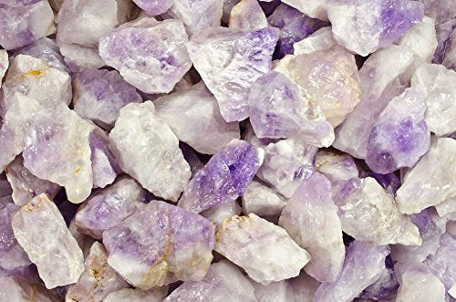 Fantasia Materials: 18 Lbs Milky Amethyst Rough From Madagascar- (Select 1 To 18 Lbs) - Raw Natural Crystals For Cabbing, Cutting, Lapidary, Tumbling, Polishing, Wire Wrapping, Wicca & Reiki Healing