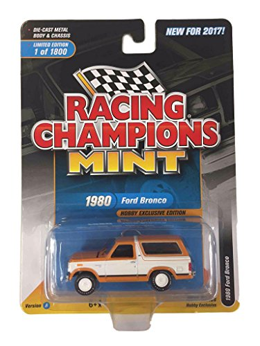 Racing Champions Rc006A 1980 Ford Bronco Bright Caramel With White Limited To 1800Pc Worldwide Hobby Exclusive 1/64 Diecast Model Car