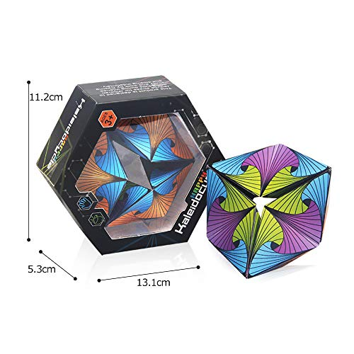 Colorful Kaleidocycle,Infinite Cycle And Infinite Non-Circulation Finger Toy Fidget Toy,Mini Gadget Best For Stress And Anxiety Relief And Extend Thinking, Math Geometric Model Education Toy For Kids