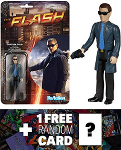 Captain Cold: Funko X Super 7 X The Flash The Tv Series Reaction Series + 1 Free Official Dc Trading Card Bundle [54038]