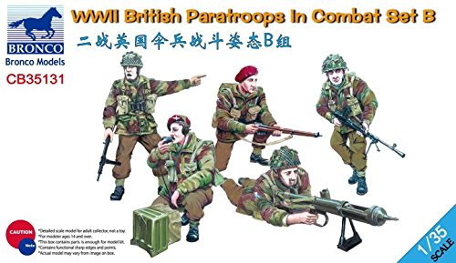 Bronco Models 1:35 Wwii British Paratroops In Combat Set B Cb35131