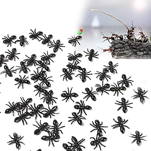 Lovestown Ants Toy, 50 Pcs 0.6  Fake Ants Plastic Insect Toys Simulated Ants Toy For Joke Halloween Party Supplies