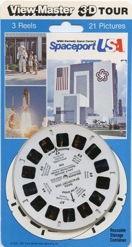 Viewmaster 3Reel Set - Spaceport Usa - John F. Kennedy Nasa Space Center, Florida - 21 3D Images