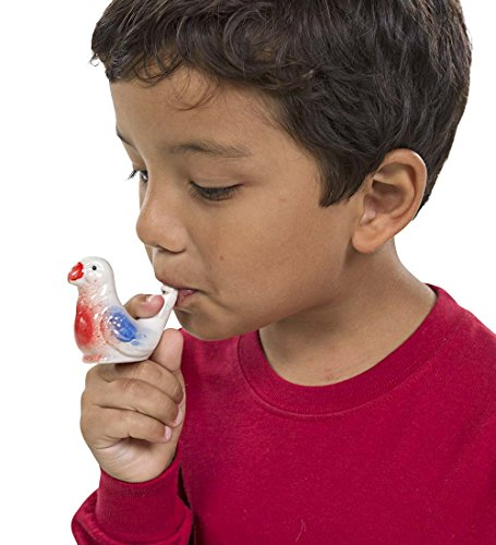 Streamline Porcelain Bird Water Whistles, Set Of 4