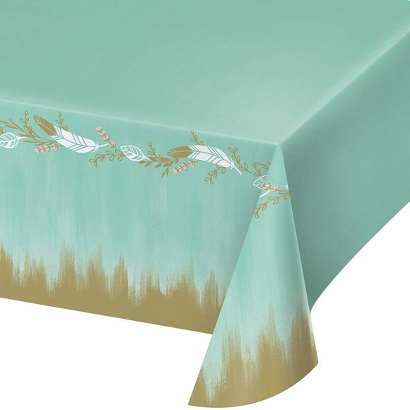 Mint To Be Premium Plastic Table Covers Bridal Shower Wedding Reception
