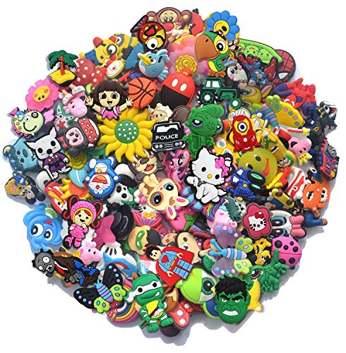 Say Out Lot Of 100 Pcs Different Random Shoe Charms For Croc Shoes &Amp; Jibbitz Bands Bracelet Wristband